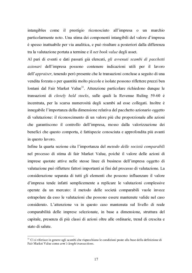 Anteprima della tesi: Fair market value d'impresa: un'analisi delle determinanti economiche, Pagina 14