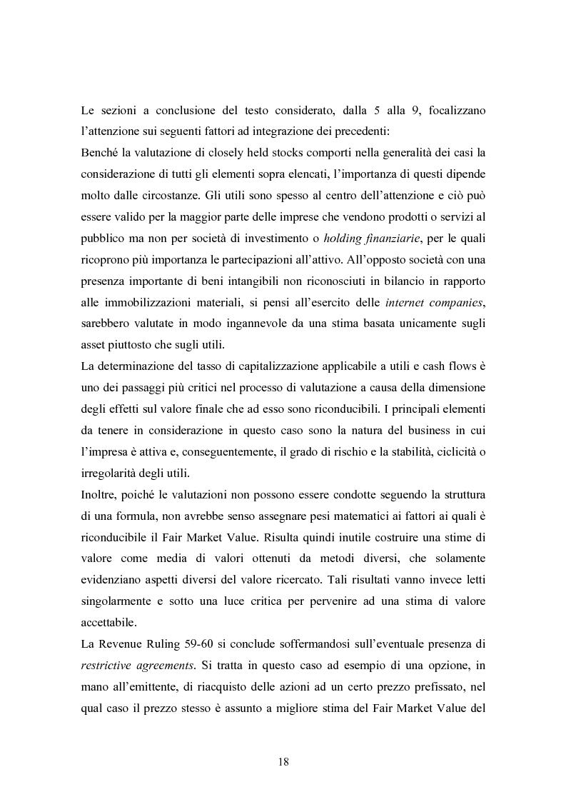 Anteprima della tesi: Fair market value d'impresa: un'analisi delle determinanti economiche, Pagina 15