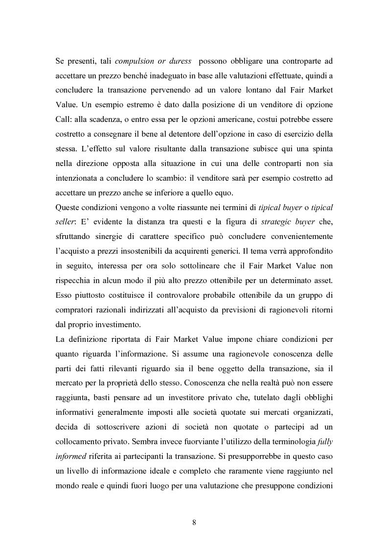 Anteprima della tesi: Fair market value d'impresa: un'analisi delle determinanti economiche, Pagina 5