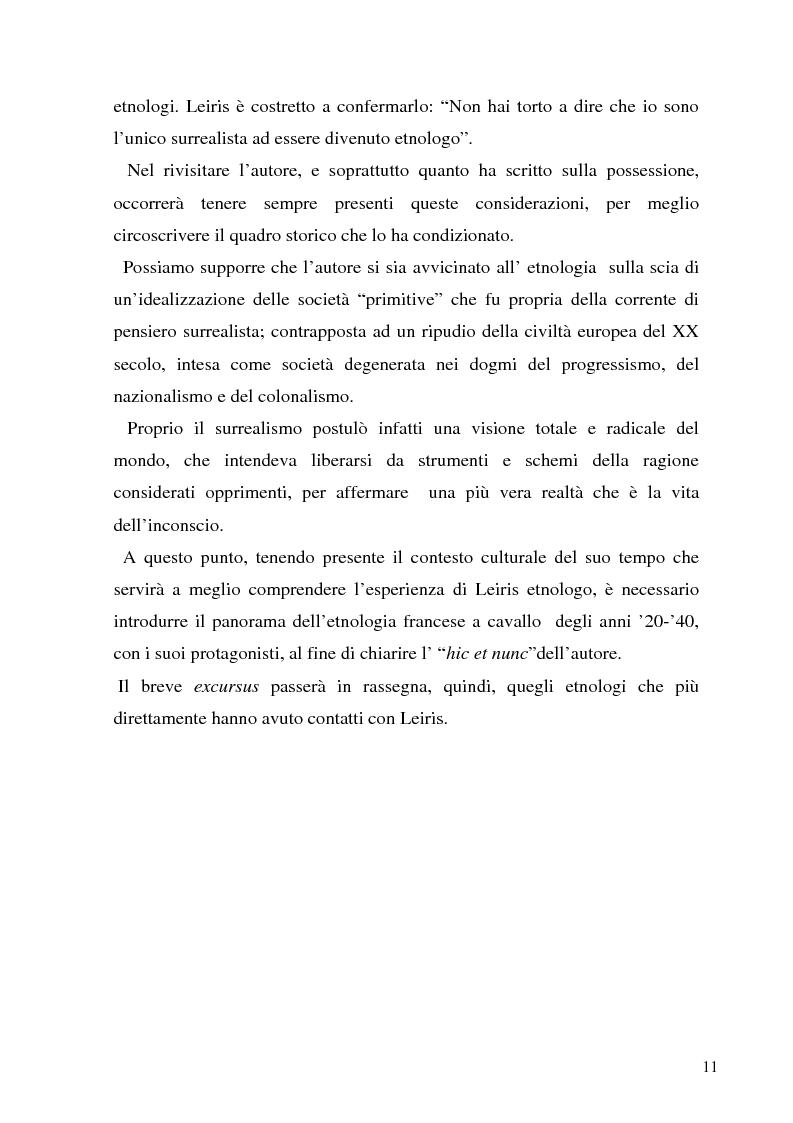 Anteprima della tesi: Rivisitando Michel Leiris: analisi storico-culturale di un autore tra le due guerre, Pagina 7