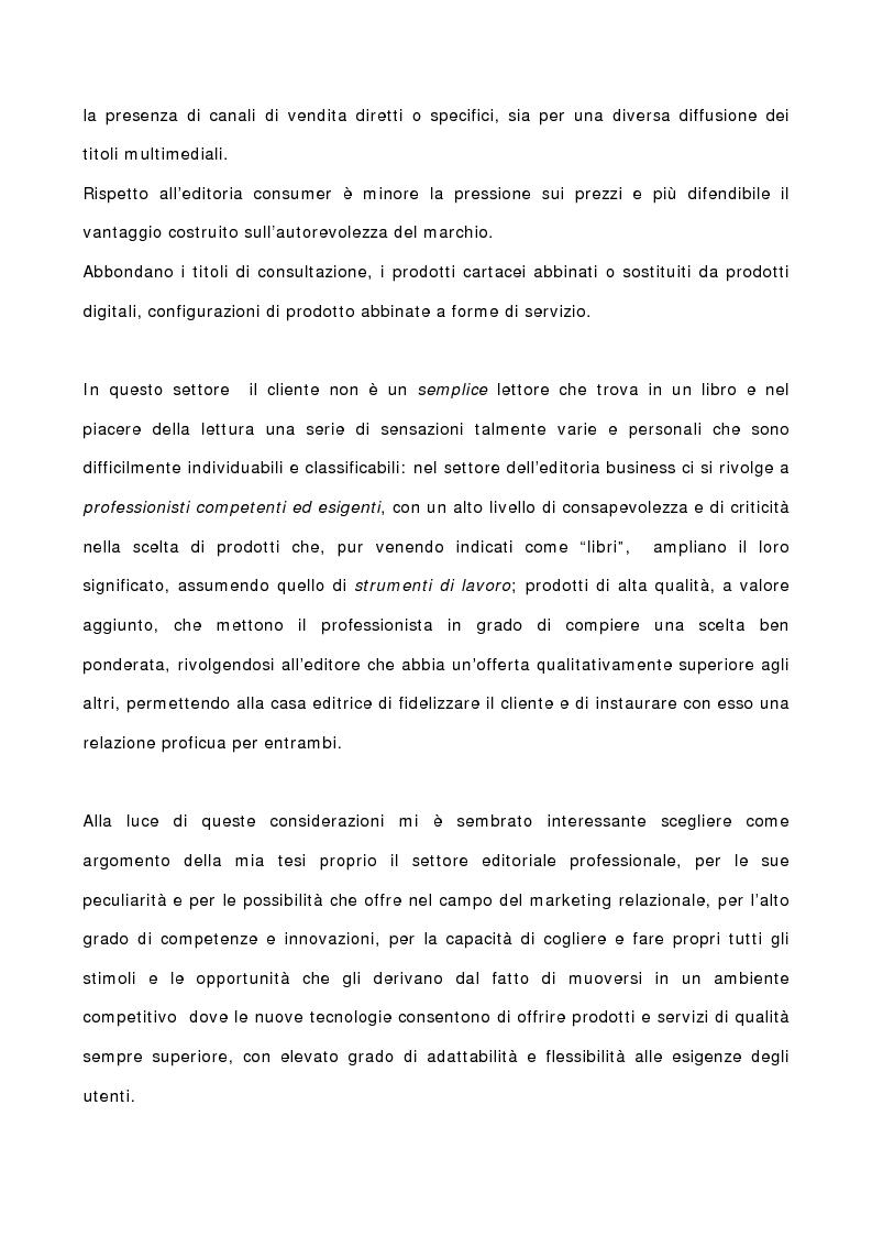 Anteprima della tesi: La gestione del marketing nell'editoria professionale giuridica. Il caso Ipsoa, Pagina 2