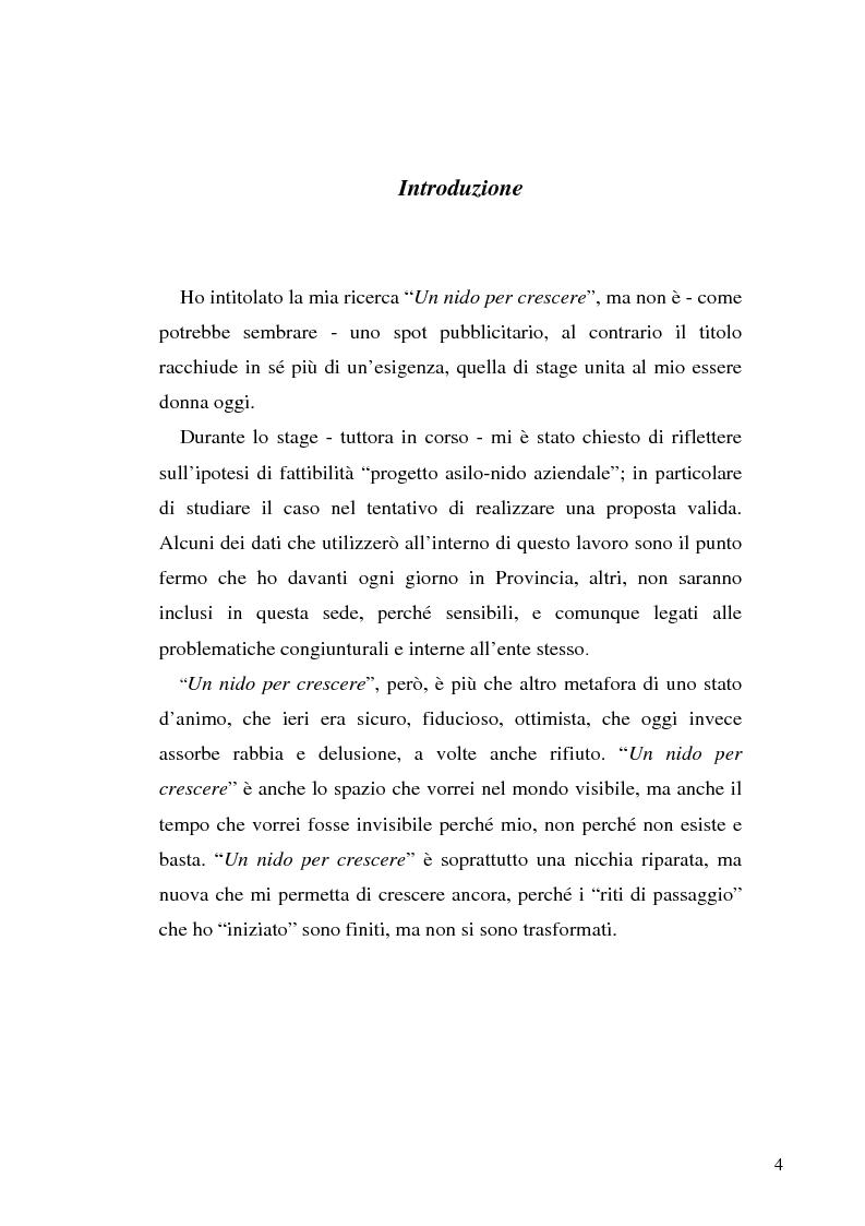 Anteprima della tesi: Un nido per crescere, Pagina 1