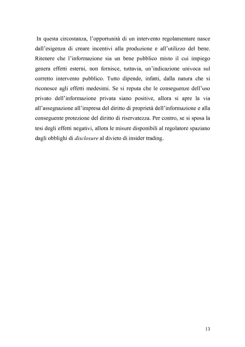 Anteprima della tesi: L'insider trading: la realtà italiana a confronto con le principali realtà estere, Pagina 11