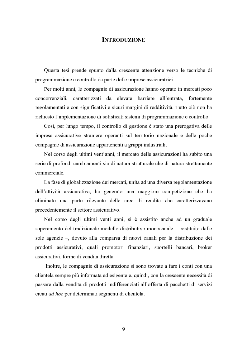 Anteprima della tesi: Il controllo di gestione nelle imprese di assicurazione, Pagina 1