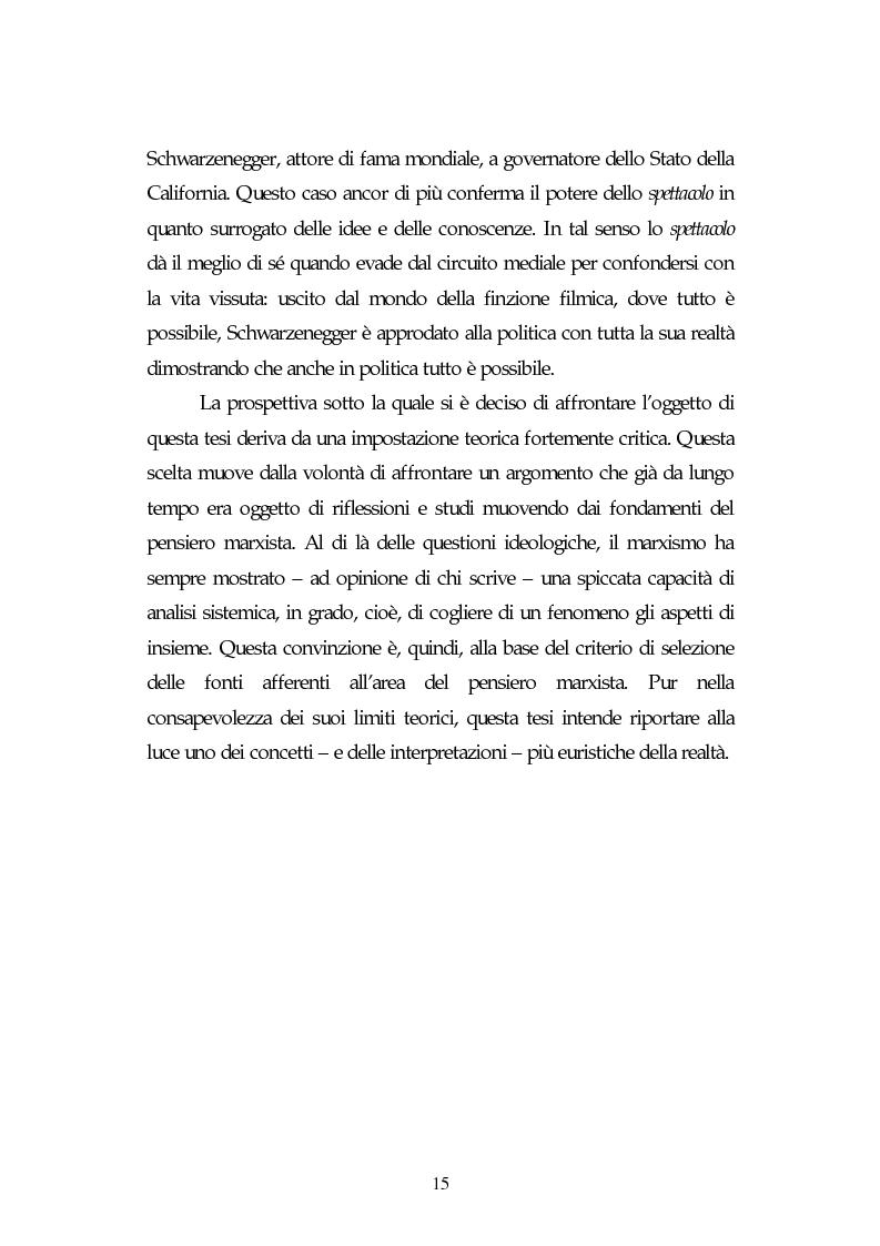 Anteprima della tesi: Metamorfosi della politica e la categoria dello spettacolo in Debord, Pagina 11