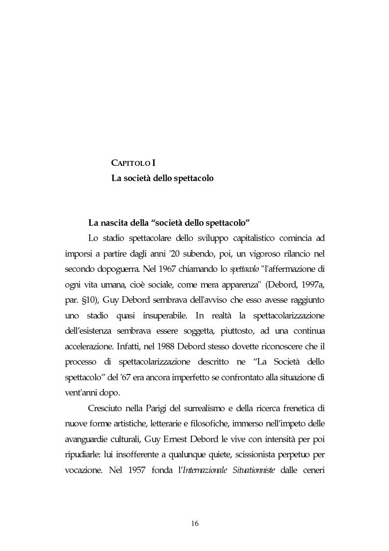 Anteprima della tesi: Metamorfosi della politica e la categoria dello spettacolo in Debord, Pagina 12