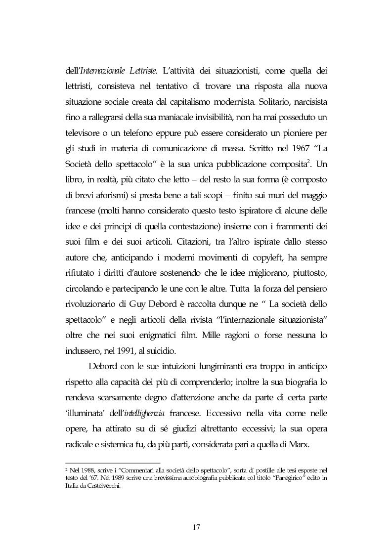 Anteprima della tesi: Metamorfosi della politica e la categoria dello spettacolo in Debord, Pagina 13