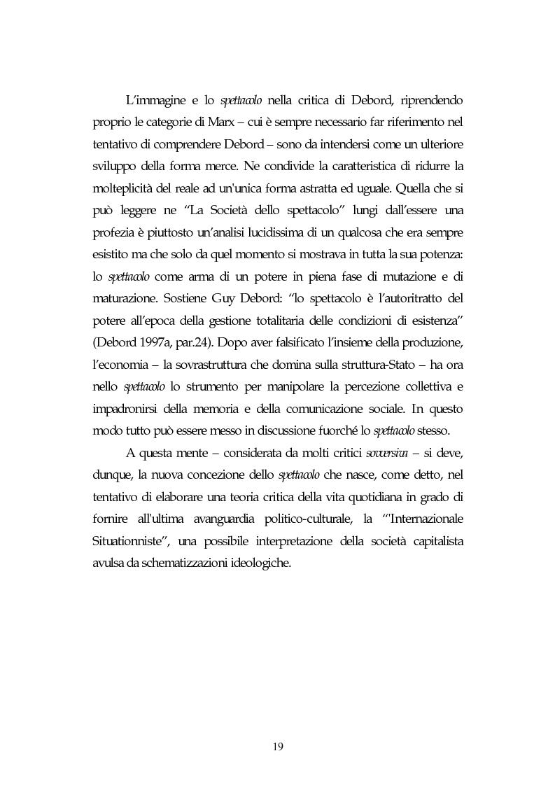 Anteprima della tesi: Metamorfosi della politica e la categoria dello spettacolo in Debord, Pagina 15