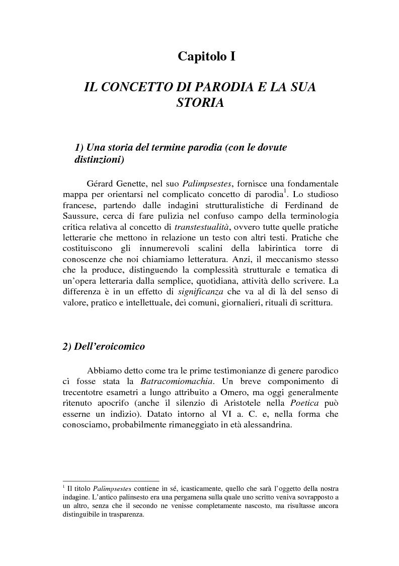 Anteprima della tesi: Romanzo e parodia nel Settecento. Tra Don Chisciotte e la Pamela Vogue, Pagina 1