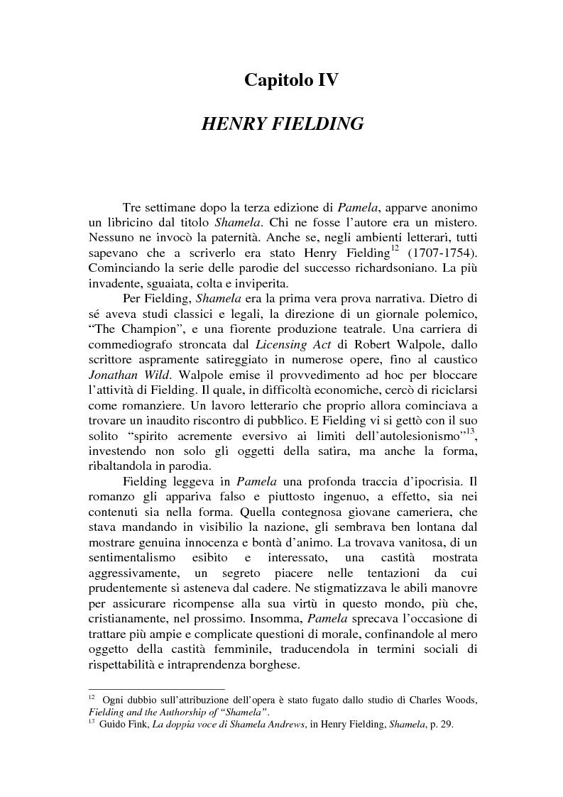 Anteprima della tesi: Romanzo e parodia nel Settecento. Tra Don Chisciotte e la Pamela Vogue, Pagina 10