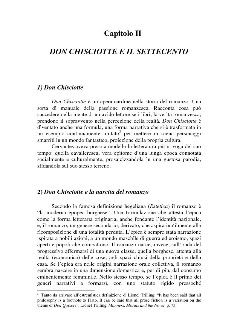 Anteprima della tesi: Romanzo e parodia nel Settecento. Tra Don Chisciotte e la Pamela Vogue, Pagina 4