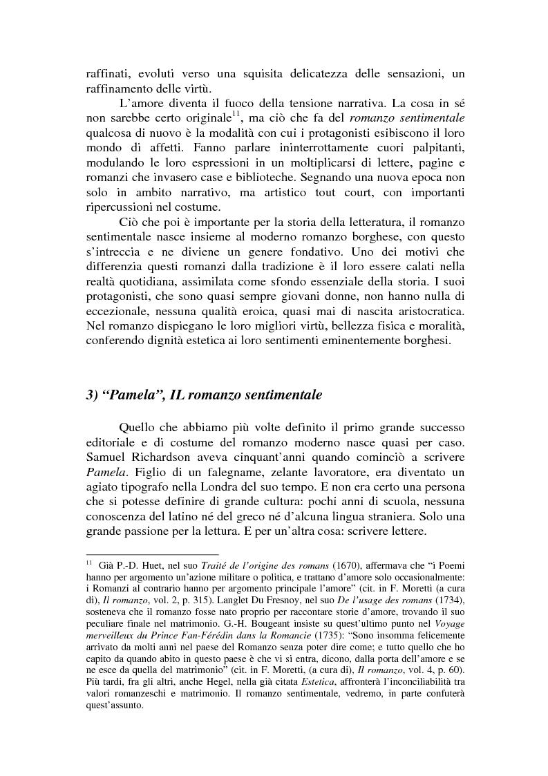 Anteprima della tesi: Romanzo e parodia nel Settecento. Tra Don Chisciotte e la Pamela Vogue, Pagina 9