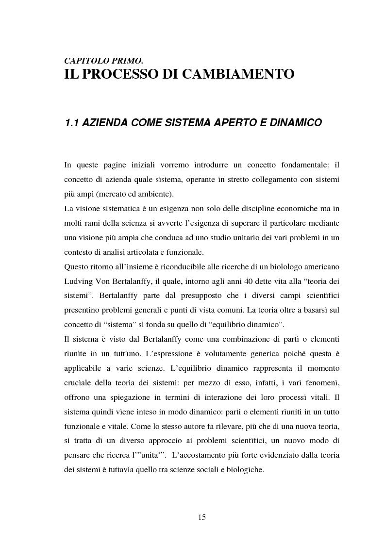 Anteprima della tesi: Le risorse umane e la comunicazione nella gestione dei processi di cambiamento, Pagina 10