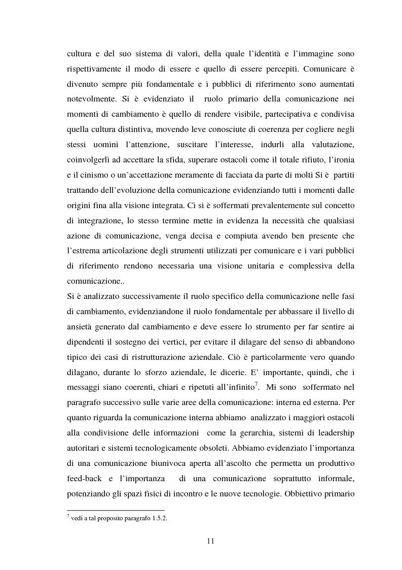 Anteprima della tesi: Le risorse umane e la comunicazione nella gestione dei processi di cambiamento, Pagina 6