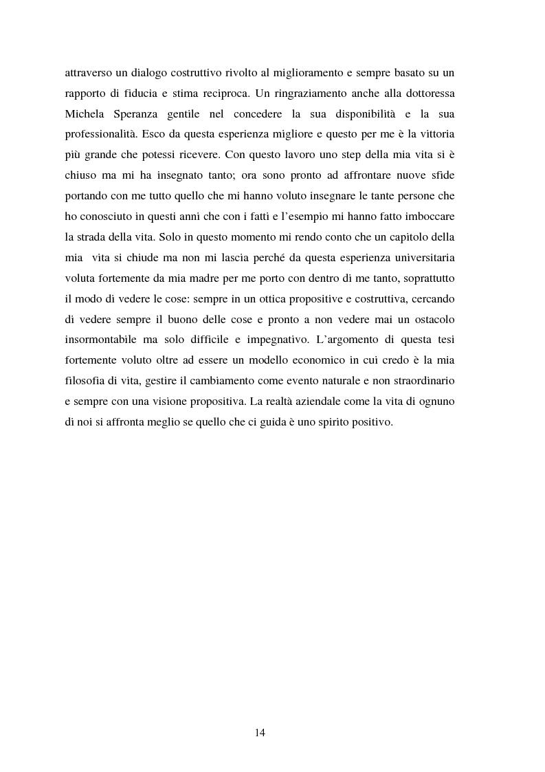 Anteprima della tesi: Le risorse umane e la comunicazione nella gestione dei processi di cambiamento, Pagina 9