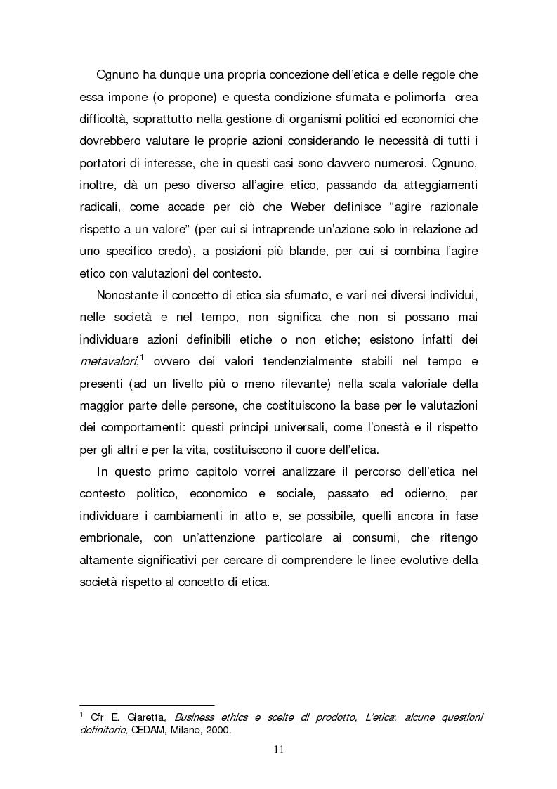 Anteprima della tesi: Il consumatore etico e solidale: prospettive e sviluppo di un nuovo stile di vita tra realtà e utopia, Pagina 6