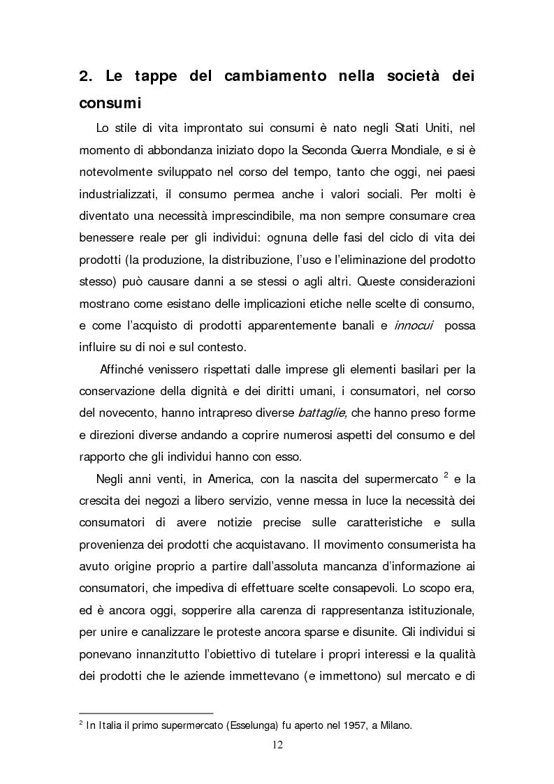 Anteprima della tesi: Il consumatore etico e solidale: prospettive e sviluppo di un nuovo stile di vita tra realtà e utopia, Pagina 7