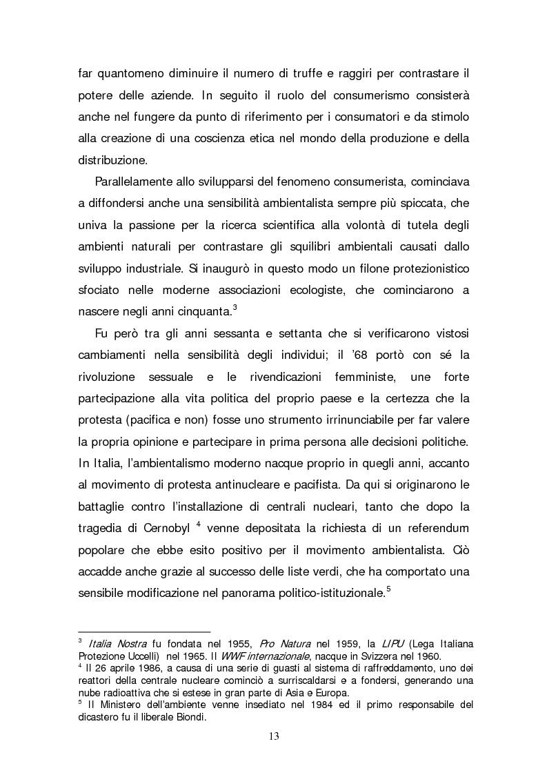 Anteprima della tesi: Il consumatore etico e solidale: prospettive e sviluppo di un nuovo stile di vita tra realtà e utopia, Pagina 8