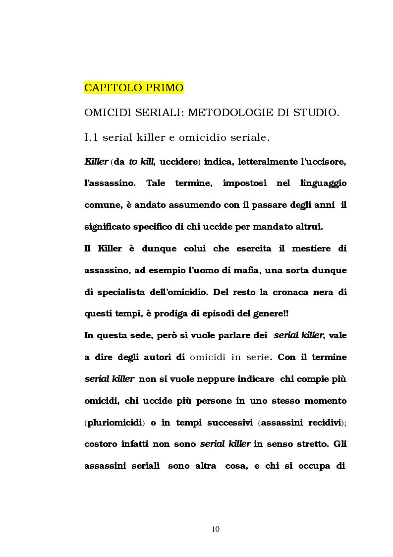 Anteprima della tesi: L'omicidio seriale con particolare riferimento alla donna serial-killer, Pagina 5
