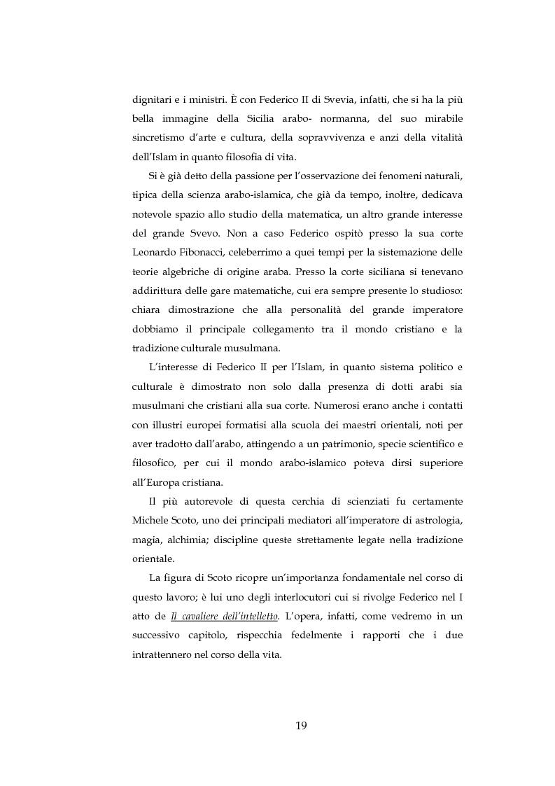 Anteprima della tesi: ''Cavalieri dell'intelletto'' tra potere e cultura: Federico II e Franco Battiato, Pagina 14