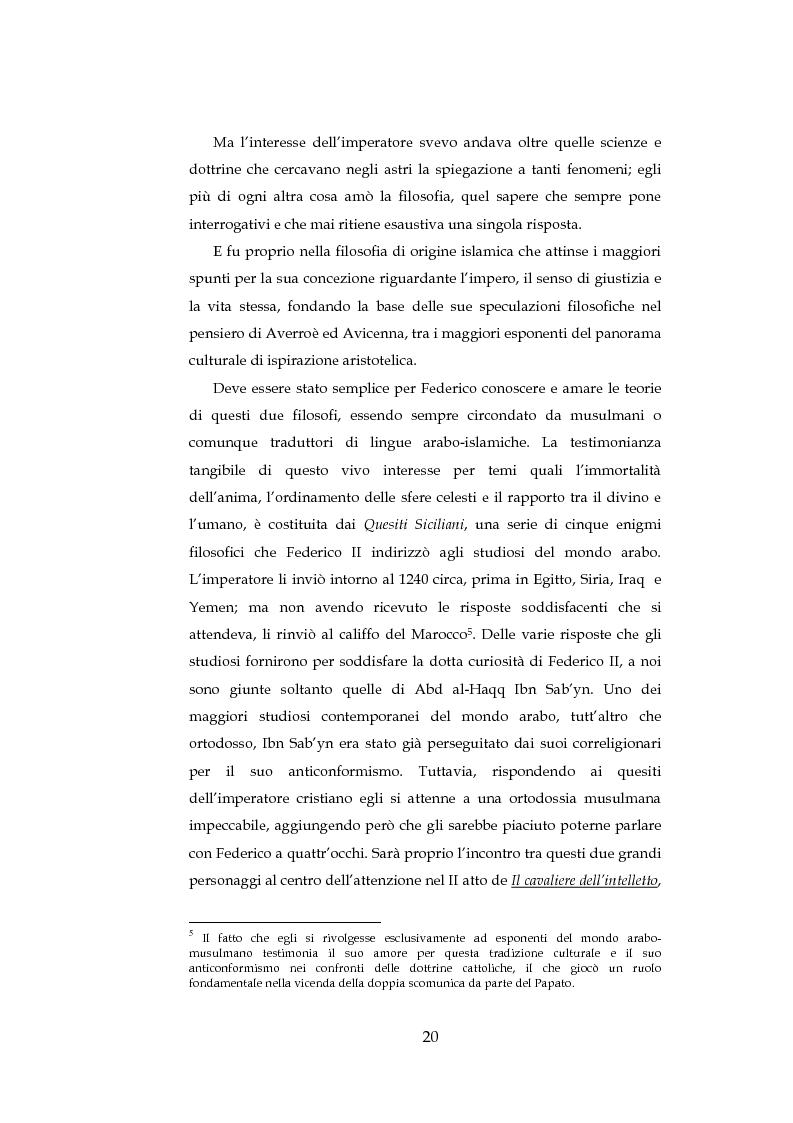 Anteprima della tesi: ''Cavalieri dell'intelletto'' tra potere e cultura: Federico II e Franco Battiato, Pagina 15