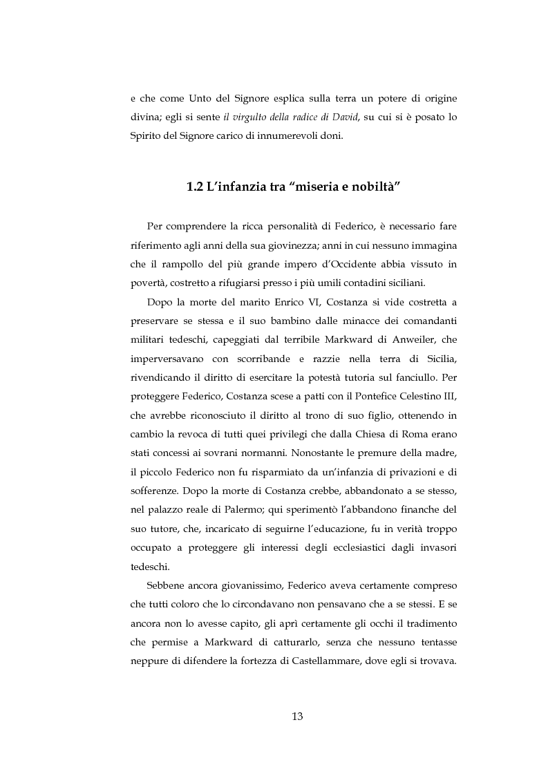 Anteprima della tesi: ''Cavalieri dell'intelletto'' tra potere e cultura: Federico II e Franco Battiato, Pagina 8