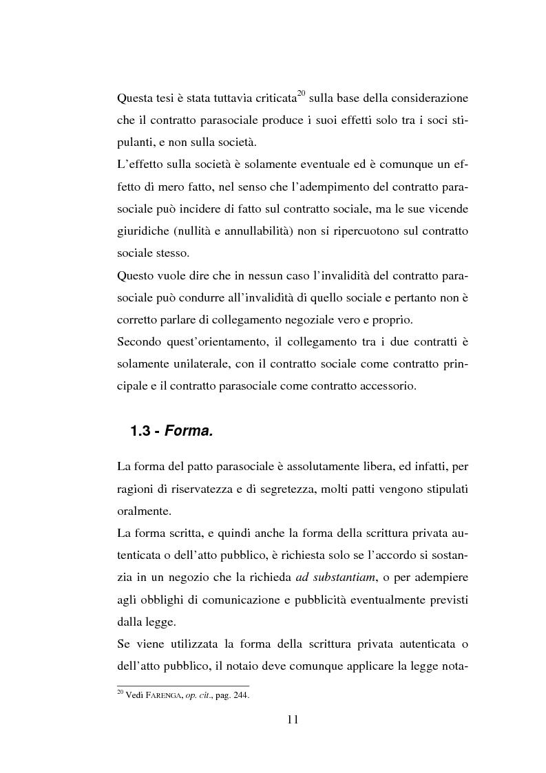 Anteprima della tesi: I patti parasociali, Pagina 11