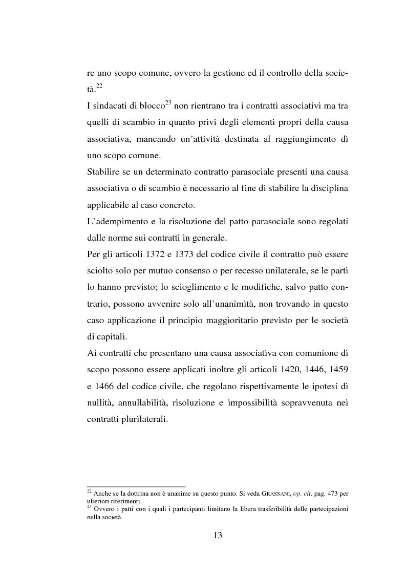 Anteprima della tesi: I patti parasociali, Pagina 13