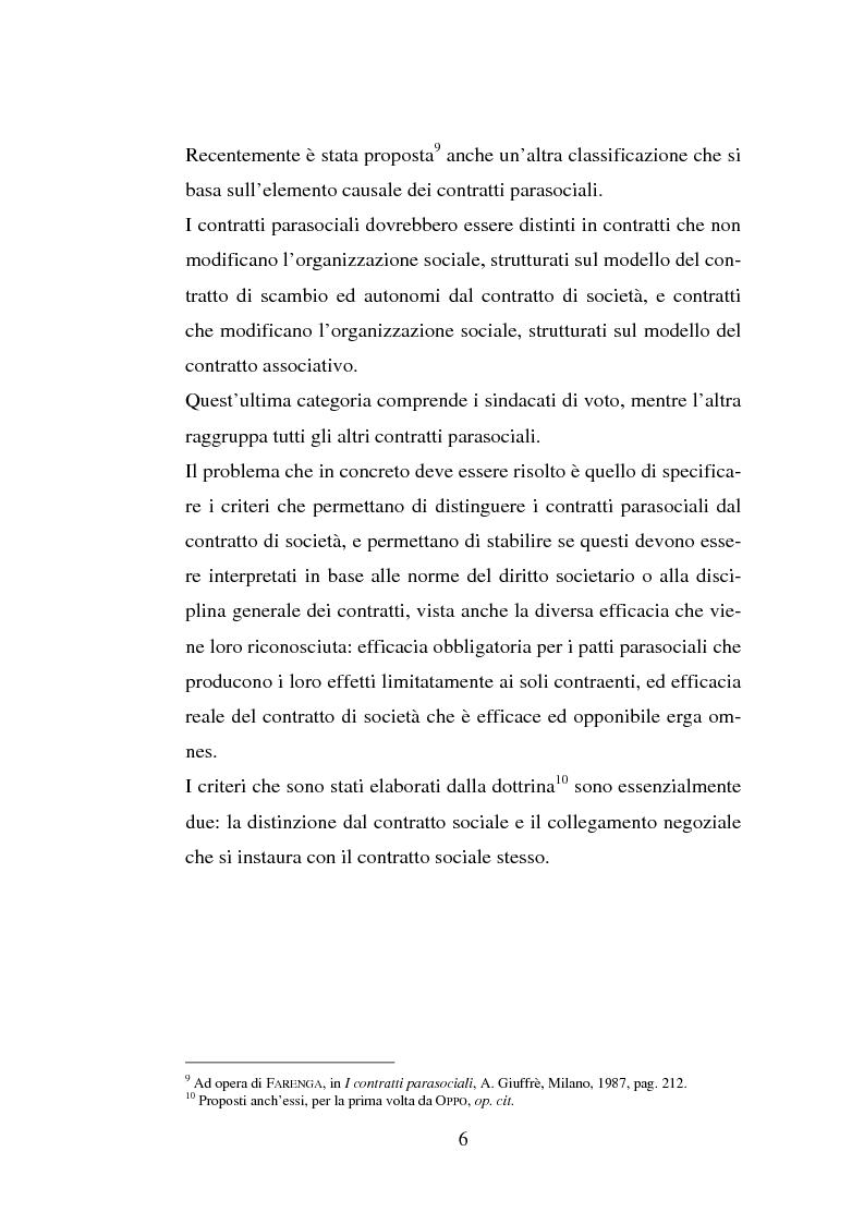 Anteprima della tesi: I patti parasociali, Pagina 6
