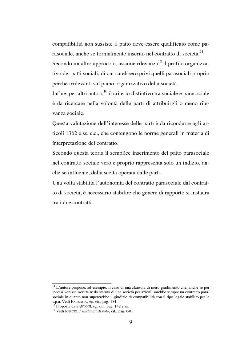 Anteprima della tesi: I patti parasociali, Pagina 9