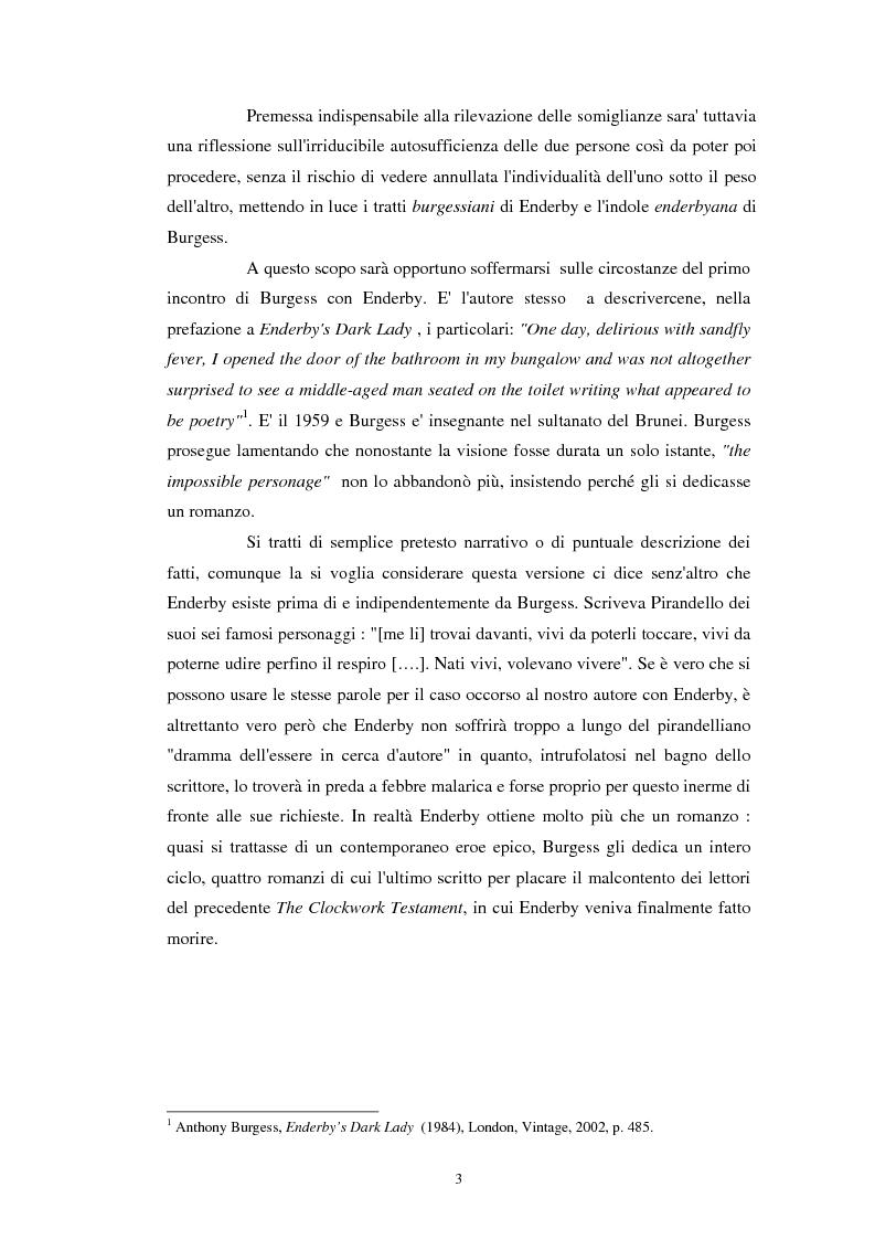 Anteprima della tesi: Anthony Burgess e F. X. Enderby a confronto, Pagina 2