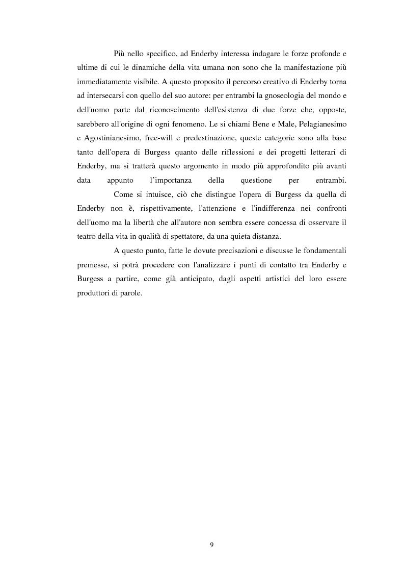Anteprima della tesi: Anthony Burgess e F. X. Enderby a confronto, Pagina 8