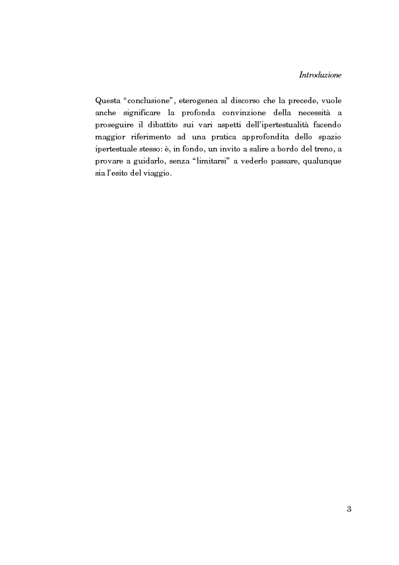 Anteprima della tesi: La forma-saggio nei sistemi ipertestuali informatici, Pagina 3