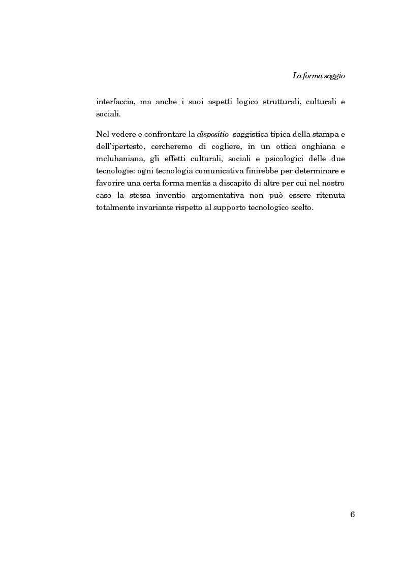 Anteprima della tesi: La forma-saggio nei sistemi ipertestuali informatici, Pagina 6