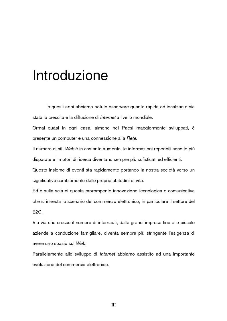 Anteprima della tesi: Il commercio elettronico Business to Consumer: i sistemi di pagamento, Pagina 1