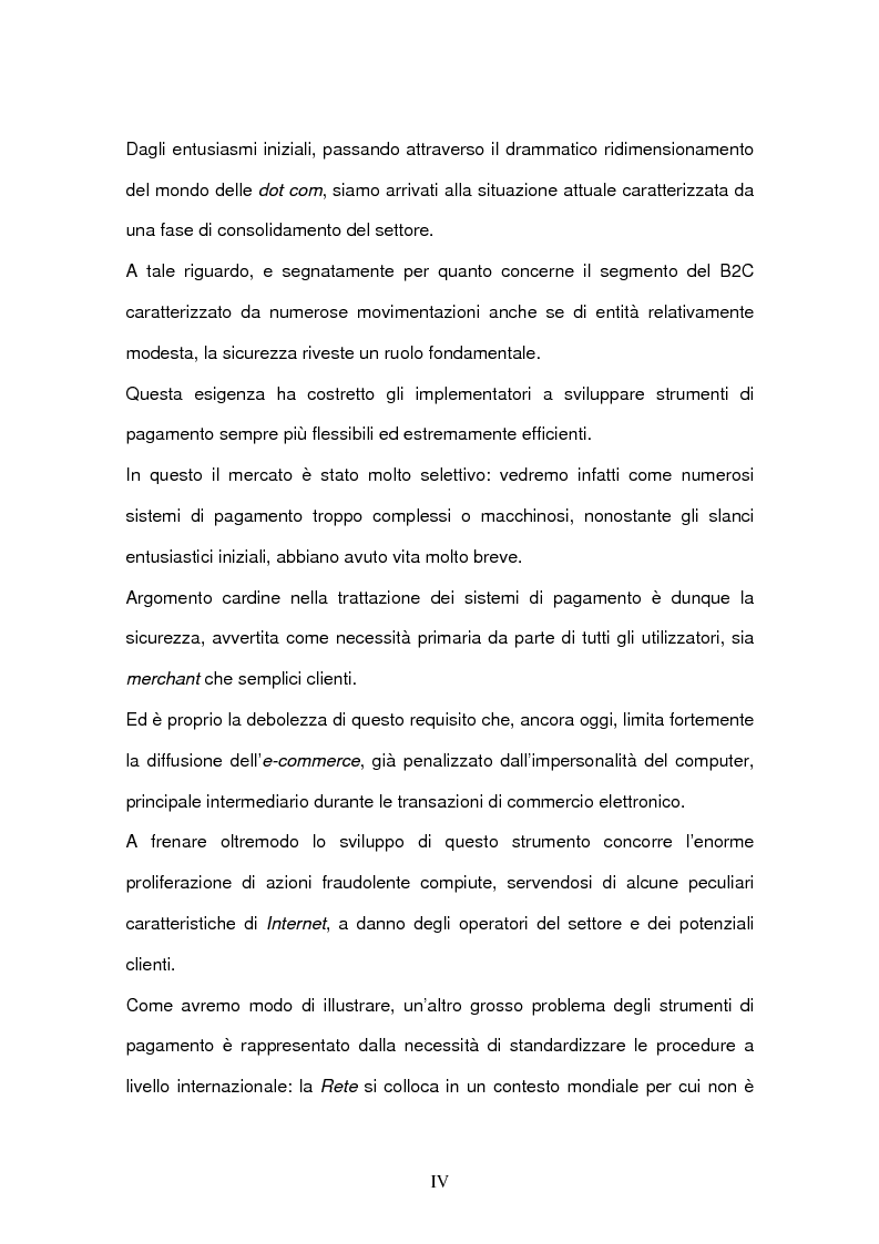 Anteprima della tesi: Il commercio elettronico Business to Consumer: i sistemi di pagamento, Pagina 2