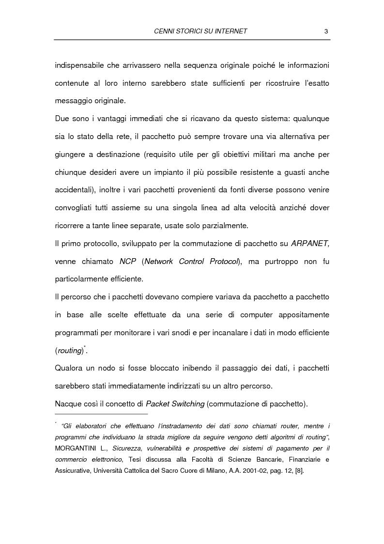 Anteprima della tesi: Il commercio elettronico Business to Consumer: i sistemi di pagamento, Pagina 9
