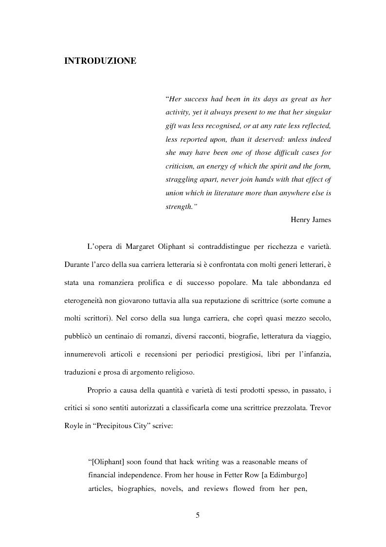 Anteprima della tesi: Margaret Oliphant fra Autobiografia e Romanzo. L'impossibilità di raccontarsi., Pagina 1