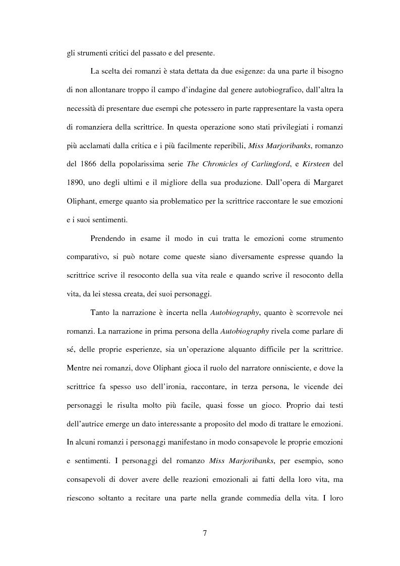 Anteprima della tesi: Margaret Oliphant fra Autobiografia e Romanzo. L'impossibilità di raccontarsi., Pagina 3