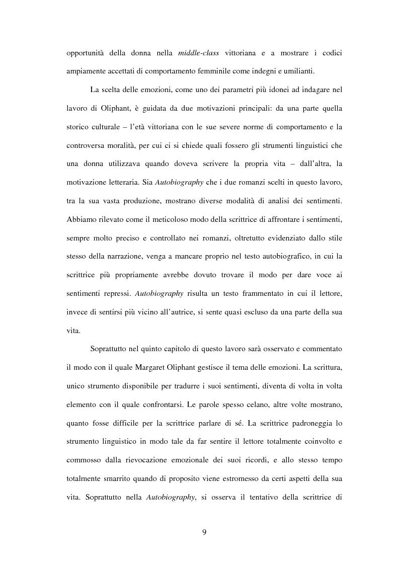 Anteprima della tesi: Margaret Oliphant fra Autobiografia e Romanzo. L'impossibilità di raccontarsi., Pagina 5