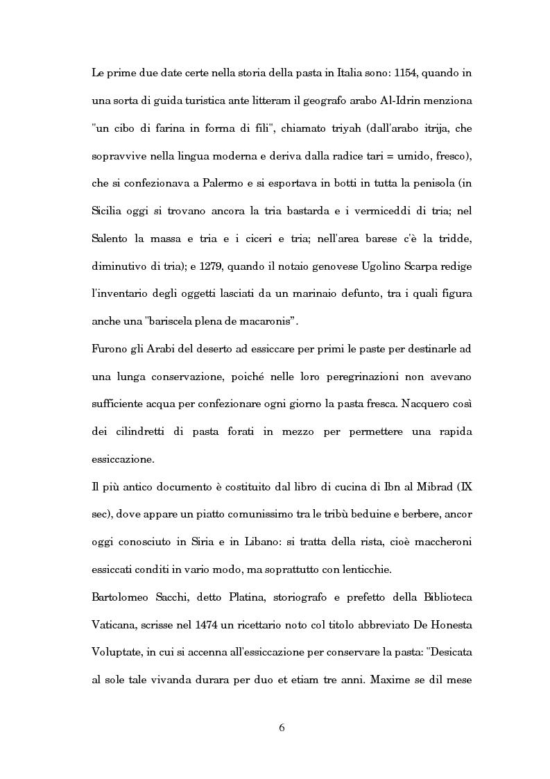 Anteprima della tesi: Caratterizzazione chimica e analisi sensoriale della pasta ottenuta dal farro, Pagina 2
