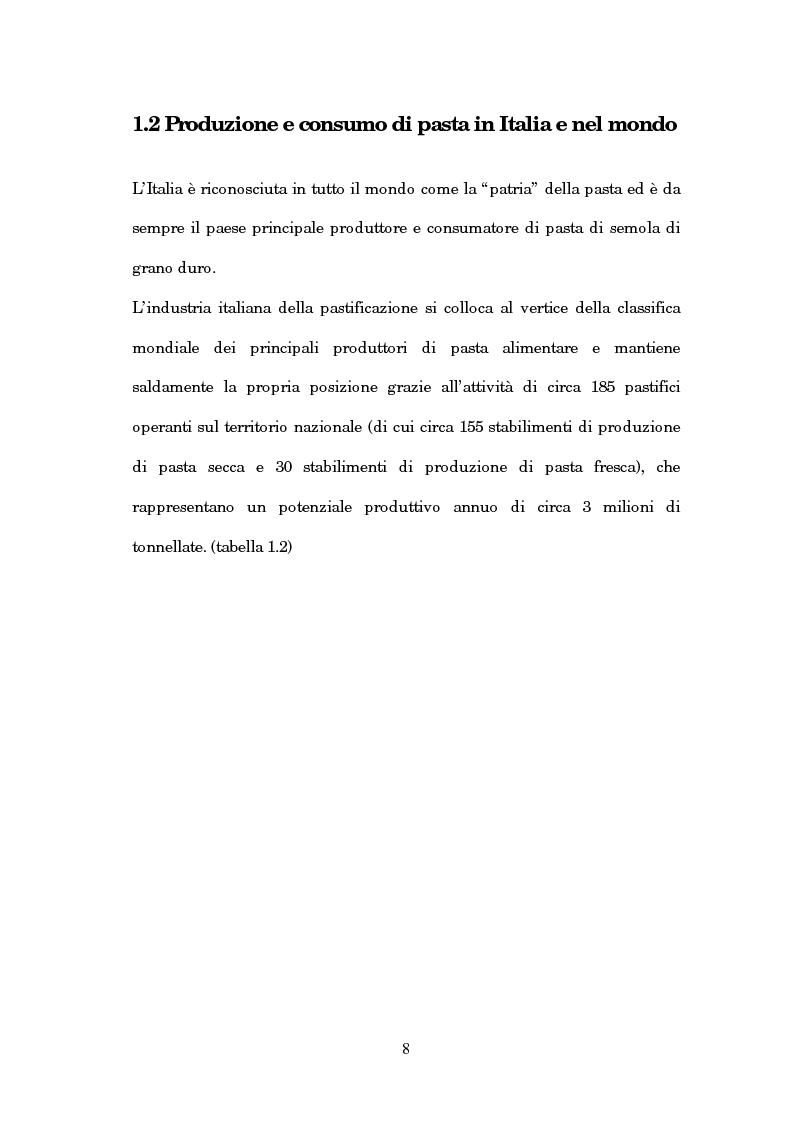 Anteprima della tesi: Caratterizzazione chimica e analisi sensoriale della pasta ottenuta dal farro, Pagina 4