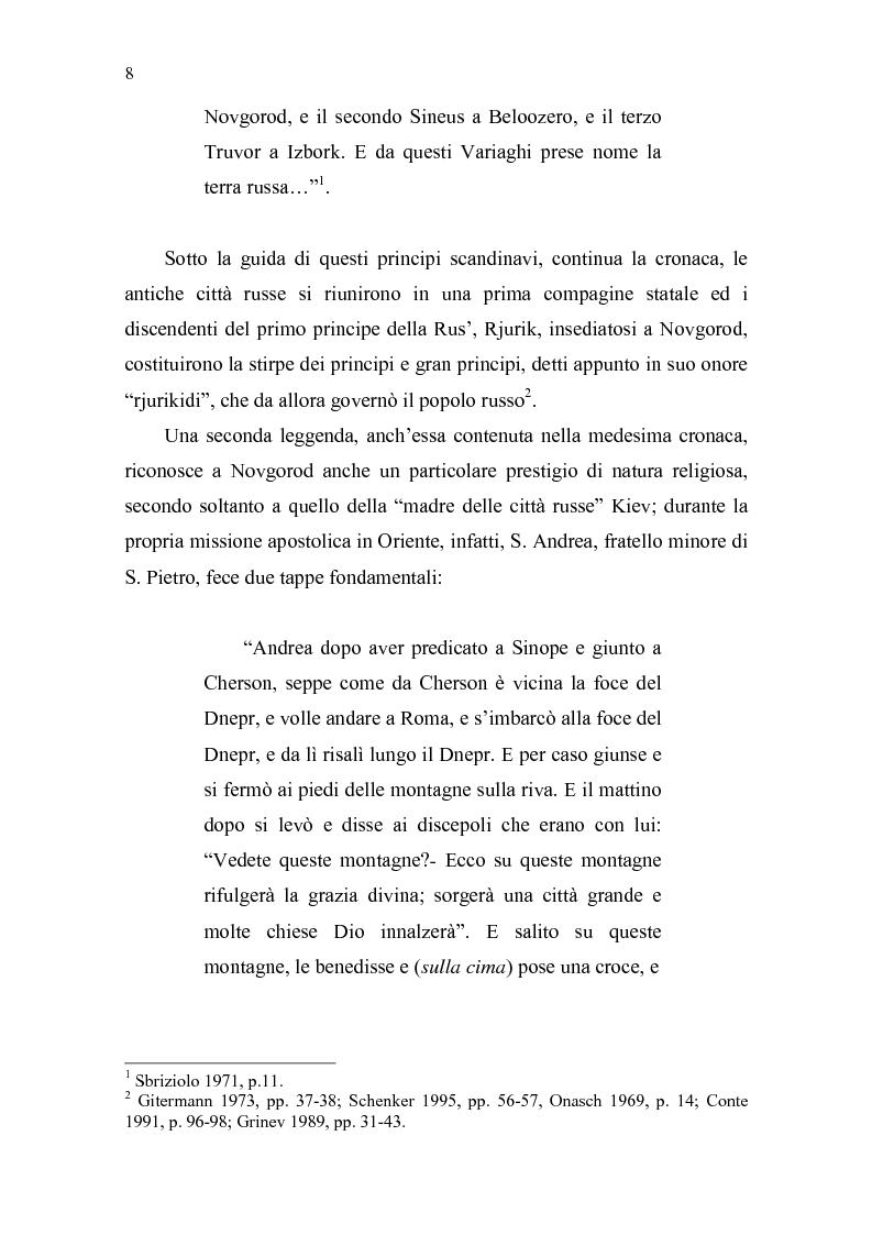 Anteprima della tesi: La Tiara di Novgorod. L'origine, la storia e la leggenda, Pagina 2