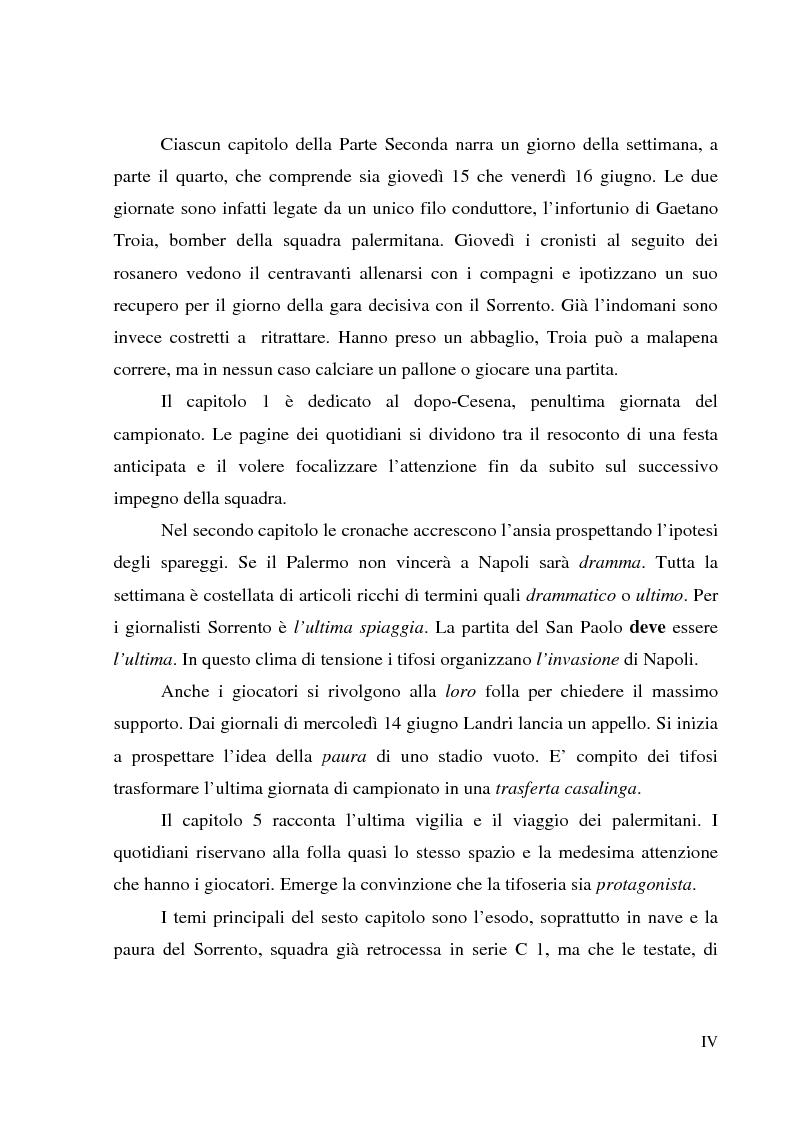 Anteprima della tesi: Palermo 1972: aspettando la serie A - L'attesa per l'ultima partita di campionato, tra giornalismo e tifoseria, Pagina 4