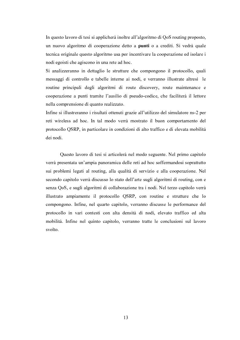 Anteprima della tesi: QSRP: un protocollo di routing per la qualità del servizio in reti ad hoc, Pagina 3