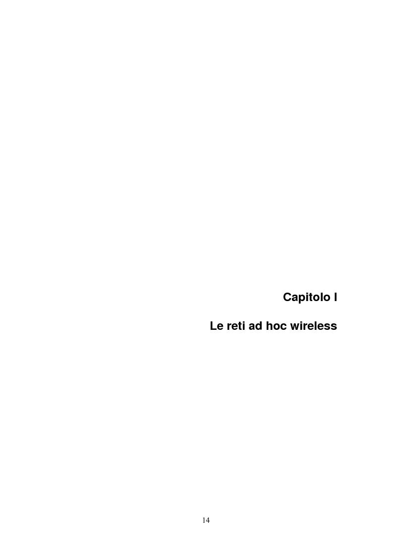 Anteprima della tesi: QSRP: un protocollo di routing per la qualità del servizio in reti ad hoc, Pagina 4
