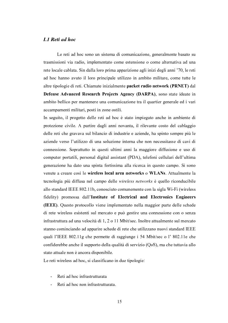 Anteprima della tesi: QSRP: un protocollo di routing per la qualità del servizio in reti ad hoc, Pagina 5