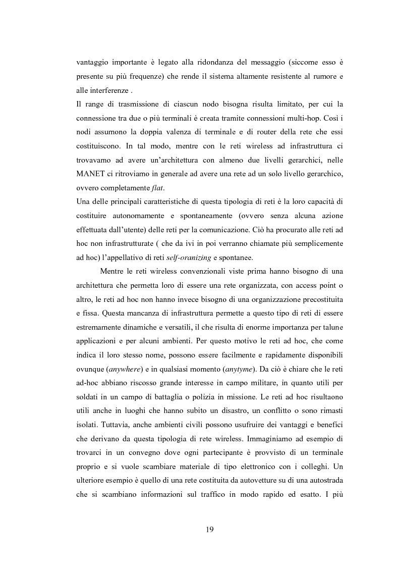 Anteprima della tesi: QSRP: un protocollo di routing per la qualità del servizio in reti ad hoc, Pagina 9