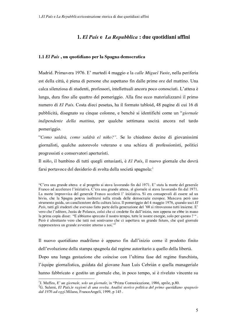 Anteprima della tesi: Il dibattito sull'immigrazione in ''La Repubblica''e ''El País'', Pagina 3