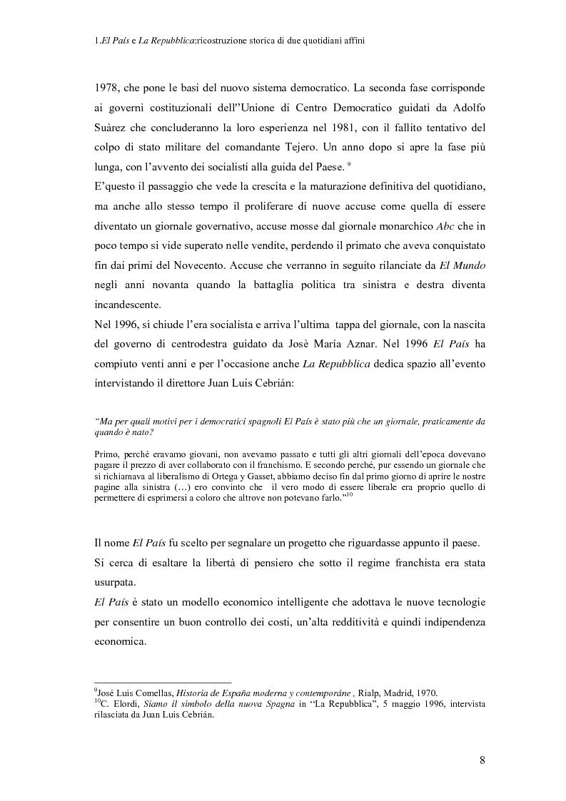 Anteprima della tesi: Il dibattito sull'immigrazione in ''La Repubblica''e ''El País'', Pagina 6